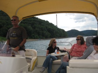 Boat tour of Youghiogheny River Lake