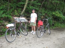 Taking a break on the Great Allegheny Passage