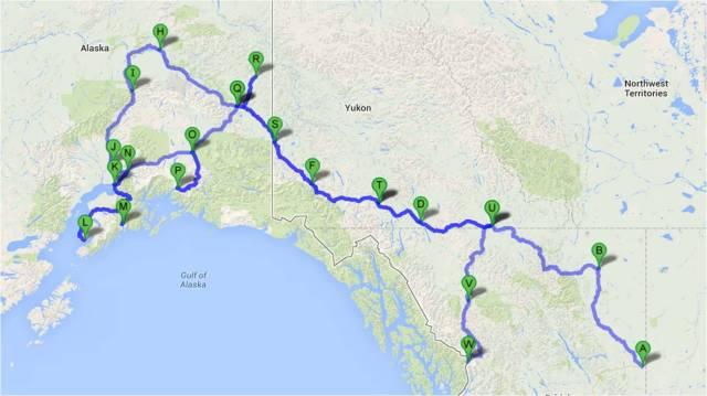 Alaska Caravan Map